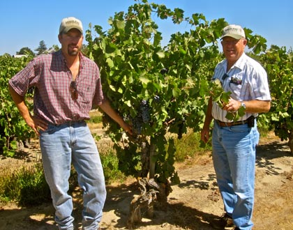 Bruce and Jerry Fry in Marian's Vineyard
