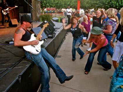 Swingers today: guitar king Shane Dwight channeling Stevie Ray the first night of this year's grapefest...