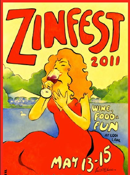 Zinfest 2011 wine label