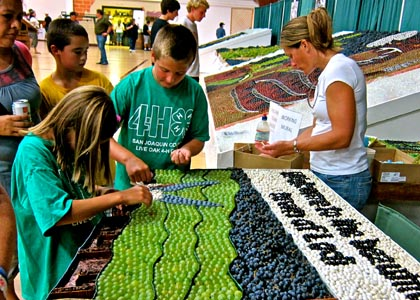 Grape mural, Grapefest, Sept. 16