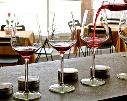 Wine tasting in Downtown Lodi's Estate Crush