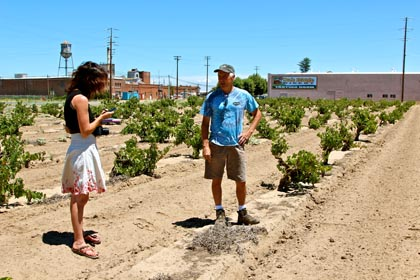 Brown takes a gander at Noma Ranch (tiny, dry farmed +100-year old east-side Mokelumne River Zinfandel vines) with Macchia winemaker/owner Tim Holdener