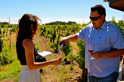 "Tasting vertical of Turley ""Dogtown"" Zinfandel in Dogtown Vineyard (Lodi's Clements Hills AVA) with Turley winemaker Tegan Passalacqua"