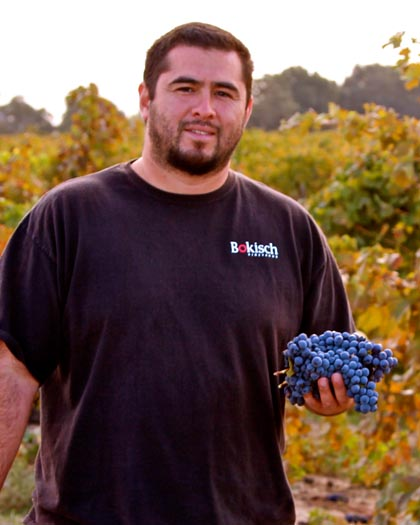 Boksich Ranches vineyard manager Alex Lopez