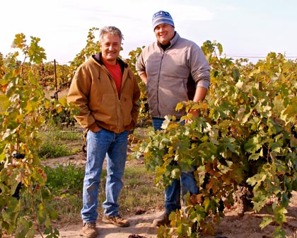 Markus Bokisch and Tegan Passalacqua in Kirschenmann Vineyard