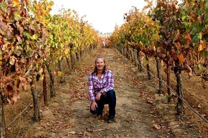 Elyse Egan Perry in Bokisch's Liberty Oaks Vineyards