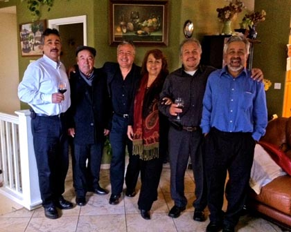 The Anaya family: Gerardo, Don Victor (grandfather), Armando, Leticia, Ramon and Victor Jr.