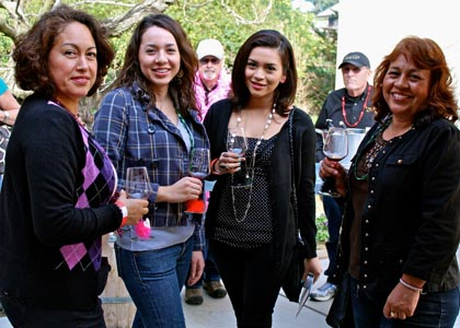Mary & Leticia Anaya (far left, right), with Gabi & Karina Espinosa (middle)