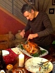 Markus Bokisch carving turkey