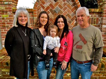 The Scott/Caporusso clan: Joanne, Melissa, Emma (Melissa's baby with husband Garret Ulmer), Kim and Mike