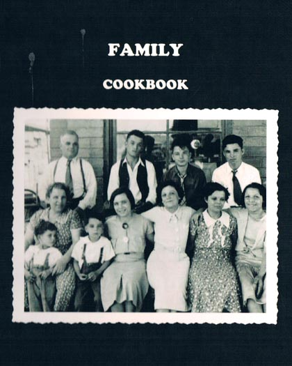 Cover of the Caporusso Family Cookbook