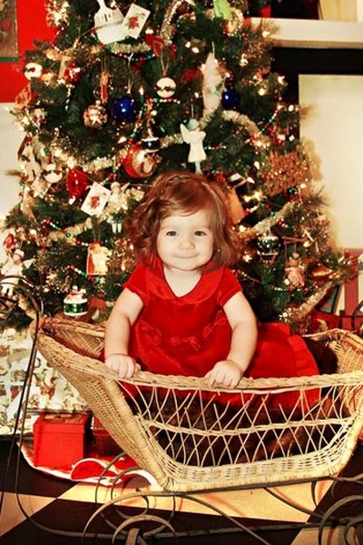 Baby Emma Ulmer, ready for Christmas
