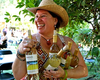 May: Concetta Wilkens at Bokisch Vineyards' spring backyard party