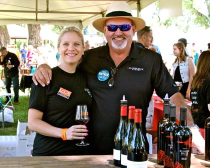 May: all in the family at Lodi ZinFest — Klinker Brick's Steve Felten, with his daughter Farrah