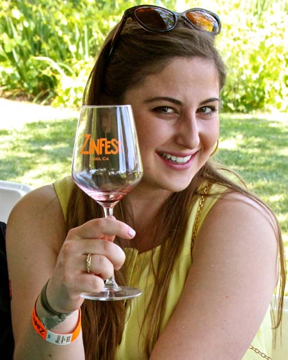 May: Lodi wine lover (Skye Morgan) at ZinFest