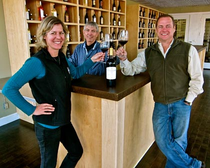 Estate Crush team: Alison & Bob Colarossi, and Nick Sikeotis (middle)
