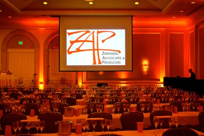 Four Seasons ballroom set up for ZAP/HVS FLIGHTS Experience