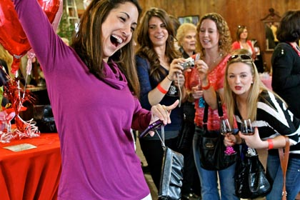 Wine & Chocolate lovers at Klinker Brick Winery