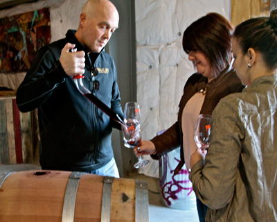 Barrel tasting with McCay Cellars' Michael McCay