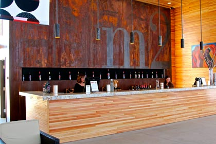 m2′s dramatically high ceilinged new tasting room