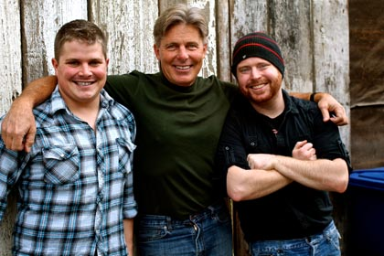 Lodi generations: Jessie's Grove's Greg Burns (center) with winemaking crew