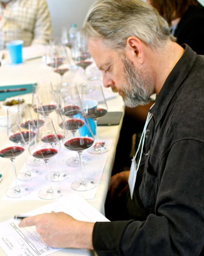 "Fred Swan judging ""12 Zins of Lodi"""