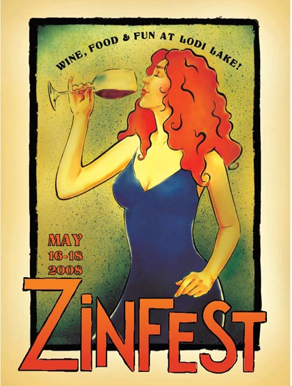 The 2008 ZinFest lady — sensuous wine, striking beauty…