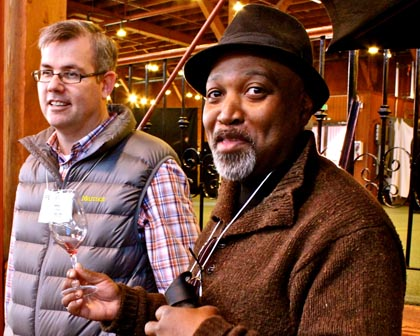 "Chef Tony Lawrence (right, with St. Amant's Stuart Spencer) will demonstrate his amazingly Zinfandel-friendly ""chocolate salad"" at this year's ZinFest"