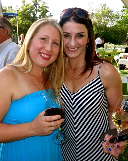 Amanda Bowe and Jenny Heitman (Lodi Winegrape Commission Marketing Manager) enjoying Vintners Grille