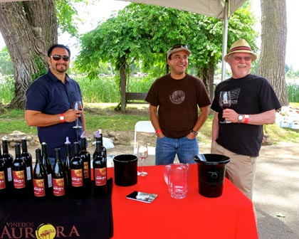 Vinedos Aurora table at ZinFest