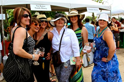 Lady wine lovers at ZinFest…