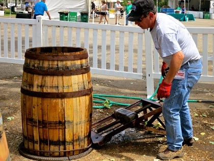 Speaking of barrels: Barrel Builders Inc. demonstrated the fine art of barrel making at ZinFest