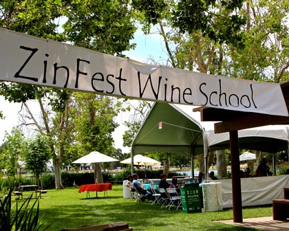 ZinFest Wine School by Lodi Lake…