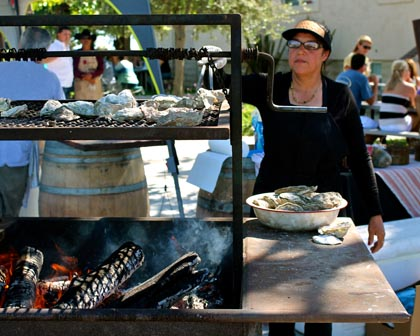 ZinFest Sunday: grilled oysters at Borra Vineyards