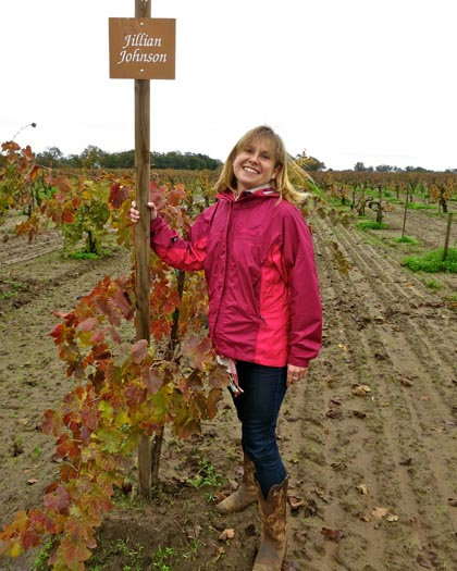 Onesta's Jillian Johnson in Bechthold Vineyard