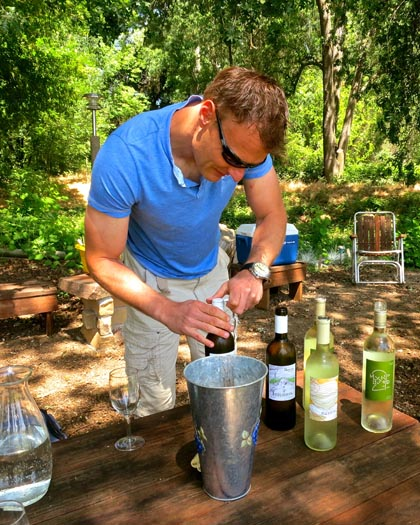 Borra's Markus Niggli opening his Mokelumne Glen grown whites