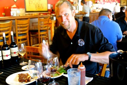 Van Ruiten Family winemaker Matt Ridge in Tin Roof BBQ