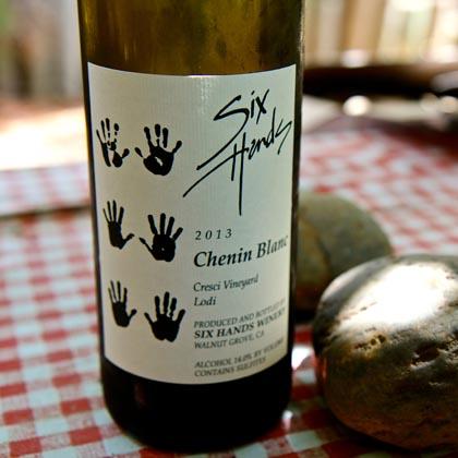 Six Hands' desert dry Chenin Blanc with rocks from Cresci Vineyard