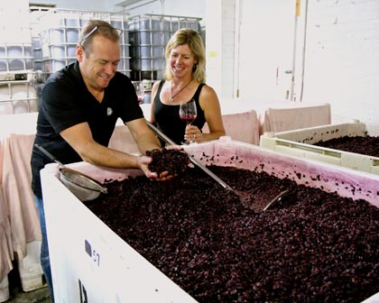 As a matter of taste, Lodi's Bob and Alison Colarossi typically pick their Stellina Zinfandel at 24 Brix