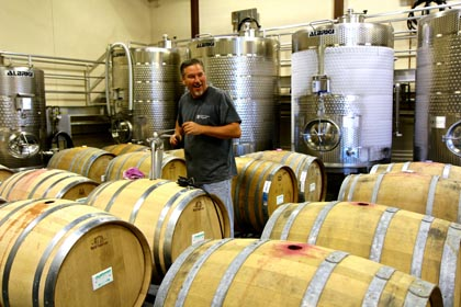 Randy Ziegler (cellarer) in Oak Farm's state-of-the-art winery