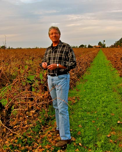 Peirano Estate's Lance Randolph, whose family grew Zinfandel going into E. & J. Gallo's Hearty Burgundy for many years