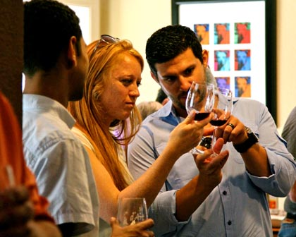 Wine enthusiasts at Lodi's d'Art Winery
