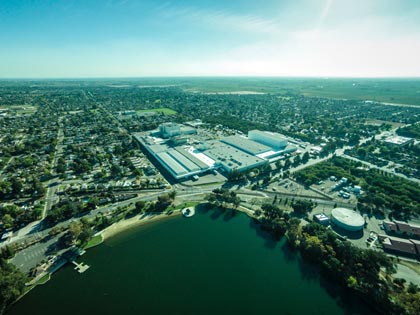October from above Lodi Lake:  Our dear General Mills plant will be closing – how we will miss the evenings with the magical smell of Cheerios or Cocoa Puffs in the air.