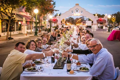 Late September:  We toasted our local winemakers and wines at the SIP SAVOR LODI dinner running up and down Downtown Lodi's Pine St.