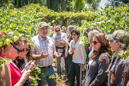 June: Ironstone Vineyards' Joe Valente talks about sustainable viticulture – something in which the Lodi winegrowing industry has led the nation –  with local teachers, who in turn will be teaching sustainability to their students.