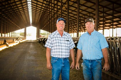 May:  The Van De Pol brothers shared their knowledge of the dairy industry, so important to Lodi.