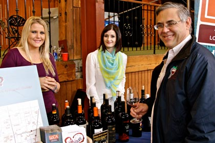 Lodi Winegrape Commission's events and marketing coordinators, Sherri Cascaden and Jenny Heitman, representing at ZAP (with Ken Landis, Chef/Owner of Landis Shores Oceanfront Inn in Half Moon Bay)