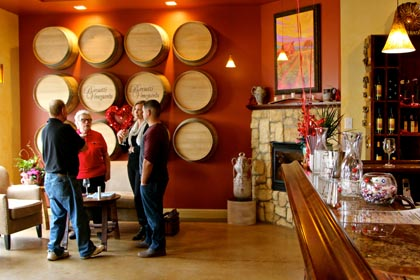 Quiet grace of Barsetti Vineyards tasting room in Galt…