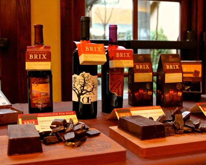 Brix Chocolates – our Wine & Chocolate Weekend co-sponsor – ready to go…