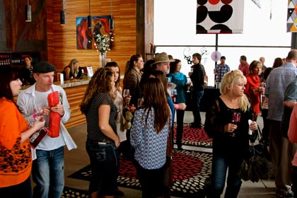 Wine & Chocolate scene in m2 Wines tasting room…